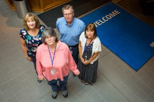 Lifeworks Associate Denise McCofferty (front) with co-workers Dan Hughes, Janet Haidar, and Kris Pomeroy.
