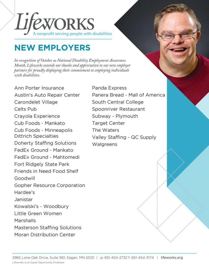 New employer partners.