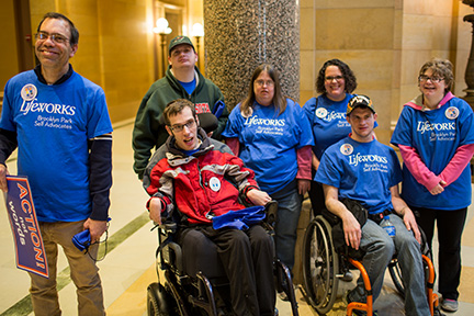 The Lifeworks Brooklyn Park self-advocacy group regularly visits the Capitol.