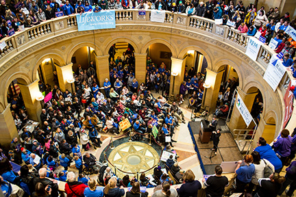 Capitol Rotunda Crowd