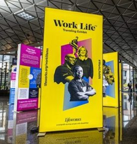 Image of WorkLife Exhibit showing People with Disabilities